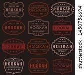 hookah premium quality stamp.... | Shutterstock .eps vector #1450756694