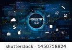 industry 4.0 concept banner... | Shutterstock .eps vector #1450758824