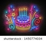 vintage glow signboard with... | Shutterstock .eps vector #1450774034