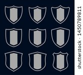 set of gray shield symbols and... | Shutterstock .eps vector #1450789811