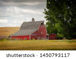 Classic Red Barn In Rural...