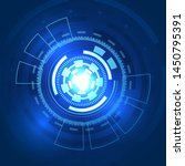 futuristic energy reactants in... | Shutterstock .eps vector #1450795391