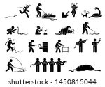 human and snake pictograms...   Shutterstock .eps vector #1450815044