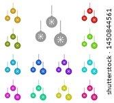 christmas balls with snowflakes ...