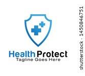 health protect logo design...   Shutterstock .eps vector #1450846751