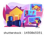 couple choosing apartment. real ... | Shutterstock .eps vector #1450865351
