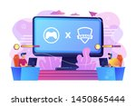 cybersports competition.... | Shutterstock .eps vector #1450865444