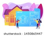 house architecture plan with... | Shutterstock .eps vector #1450865447
