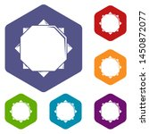 origami sun icons colorful...