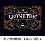 art deco geometric vintage... | Shutterstock .eps vector #1450873931