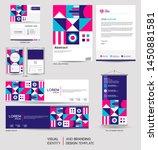 modern stationery mock up set... | Shutterstock .eps vector #1450881581