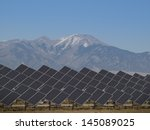 a series of large solar panels... | Shutterstock . vector #145089025