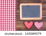 Red Tablecloth  Love Hearts ...