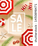 summer sale beach background... | Shutterstock .eps vector #1450898471