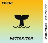 whale vector icon illustration...