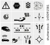 road traffic info graphic icons | Shutterstock .eps vector #145091581
