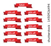 set of sale tags with text  ... | Shutterstock .eps vector #1450926494