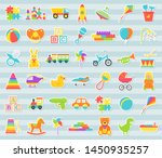 baby toys stickers. vector.... | Shutterstock .eps vector #1450935257