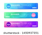 Stock vector abstract web banner design background or header templates fluid gradient shapes composition with 1450937351