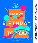 happy birthday cake... | Shutterstock .eps vector #1450937357