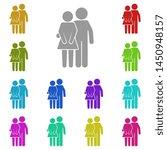 friends  boyfriend and... | Shutterstock . vector #1450948157