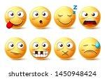 emojis vector set with funny...   Shutterstock .eps vector #1450948424