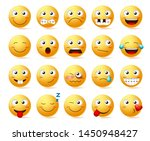 emoticons vector set. emoji... | Shutterstock .eps vector #1450948427