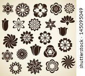 vintage flower buds vector...