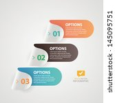 modern infographics colorful... | Shutterstock .eps vector #145095751