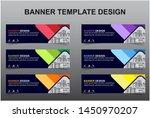 set of modern banners...   Shutterstock .eps vector #1450970207