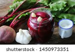 Pickled Beets In The Jar On A...