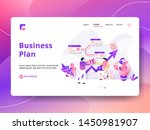landing page business plan... | Shutterstock .eps vector #1450981907
