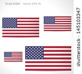 united states flag template  ... | Shutterstock .eps vector #145103347