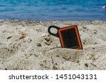 portable solar charger power... | Shutterstock . vector #1451043131
