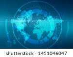vector abstract circular... | Shutterstock .eps vector #1451046047