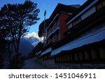 buddhist monastery in namche... | Shutterstock . vector #1451046911