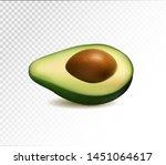 half avocado fruit isolated on...   Shutterstock .eps vector #1451064617