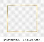 gold shiny glowing frame with... | Shutterstock .eps vector #1451067254