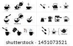 set of methods of brewing tea... | Shutterstock .eps vector #1451073521
