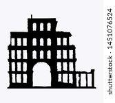 war torn abandoned ancient... | Shutterstock .eps vector #1451076524