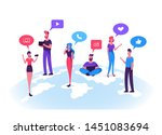 young people characters...   Shutterstock .eps vector #1451083694