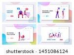 men and women using gadgets... | Shutterstock .eps vector #1451086124