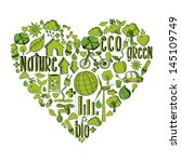 trendy heart with environmental ... | Shutterstock .eps vector #145109749