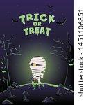 halloween invitation card....   Shutterstock .eps vector #1451106851