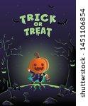 halloween invitation card....   Shutterstock .eps vector #1451106854