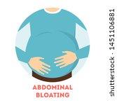 abdominal bloating. big fat...   Shutterstock .eps vector #1451106881