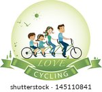 vector illustration of cycling...   Shutterstock .eps vector #145110841