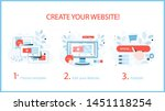 how to create a website... | Shutterstock .eps vector #1451118254