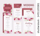wedding invitation card bundle... | Shutterstock .eps vector #1451135381