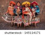 cusco  peru  sept 19  quechua...   Shutterstock . vector #145114171